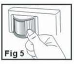 Positionnement du cache pour limiter l'angle de détection