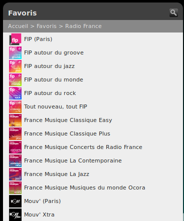 favoris Radio-France